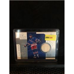 MARK MESSIER 2001 UD TOP SHELF GAME USED STICK CARD