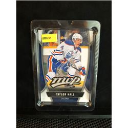 TAYLOR HALL 2013-14 MVP UD SERIES 1 OVERSIZED CARD SILVER SCRIPT