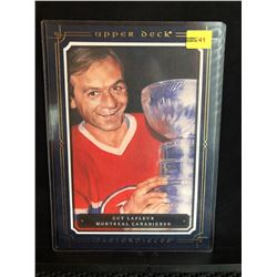 GUY LaFLEUR 2008-09 CANVAS BLUE UD MASTERPIECES OVERSIZED CARD