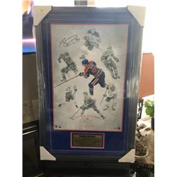 AUTOGRAPHED CONNOR McDAVID FRAMED 23X35 UD AUTHENTICATED LIMITED EDITION PRINT