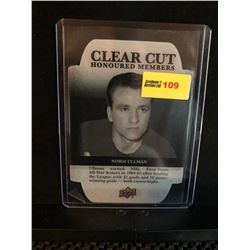 NORM ULLMAN 2016-17 UD CLEAR CUT HONORED MEMBERS 090/100 SERIES 1 HOF 67