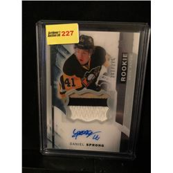 DANIEL SPRONG 2015-16 UD PREMIER ROOKIE AUTOGRAPH & GAME USED JERSEY 281/375