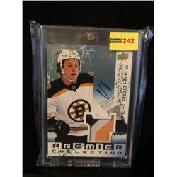 CHARLIE McAVOY 2017-18 UD SUPER ROOKIES PREMIER COLLECTION AUTOGRAPH & GAME USED JERSEY 95/99