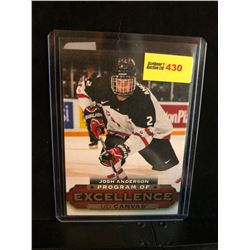 JOSH ANDERSON 2015-16 UD CANVAS PROGRAM OF EXCELLENCE SERIES 2