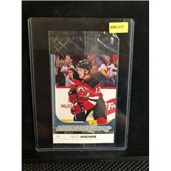 NICO HISCHIER 2017-18 OVERSIZED UD YOUNG GUNS SERIES 1