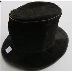 Leather Undertaker's Hat