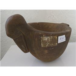Bird Effigy Stone Bowl