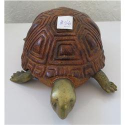 Wood & Brass Turtle
