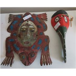 2 Old Mexican Masks
