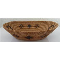 Mission Indian Polychrome Oval Basket