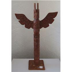 Old Wood Totem Pole