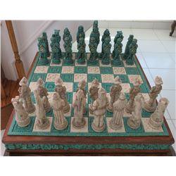 Mexican Chess Set-Indians & Spaniards