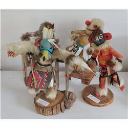 4 Large Hopi Kachinas