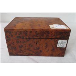 Solid Burl Wood Jewel Box