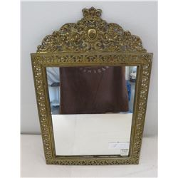 Antique Mirror in Ornate Frame