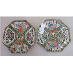 Pair of Rose Medallion Plates