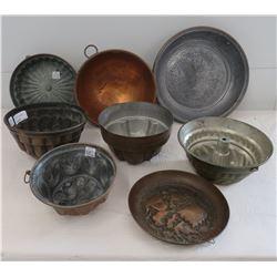 8 Copper Molds & Pots