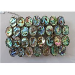Mexican Abalone & Sterling Belt Buckle