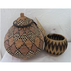 Pair of Zulu Baskets