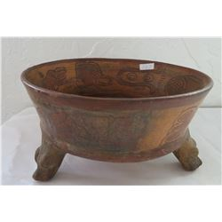 Mayan Tri-Leg Bowl