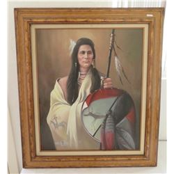 Painting of Native American