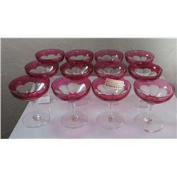Set of 12 Champagne Glasses