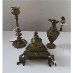 3 Antique Bronze Pieces