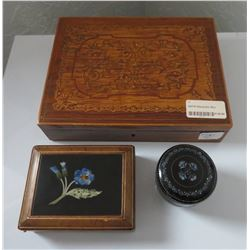 3 Finely Inlaid Boxes