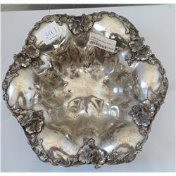 Silverplate Bowl w/Dogwood Blossom