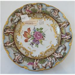 German Capodimonte-style Porcelain Plate