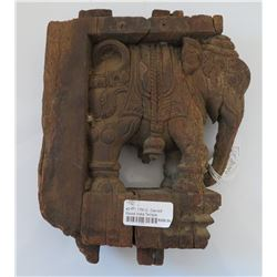 17th Century Indian Carved Wood Elephant