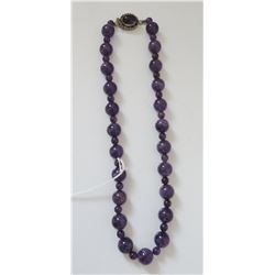 Amethyst Stone Bead Necklace