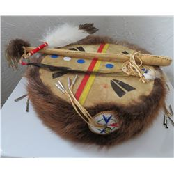Plains Indian Drum w/Beater