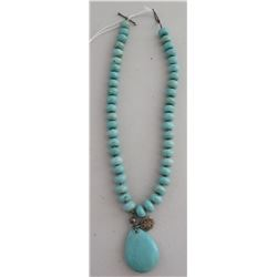 Turquoise Stone Bead Necklace