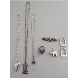 Misc Lot of Sterling Silver Jewelry