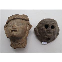 2 Heavy Pre-Columbian Sculptures