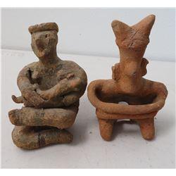 2 Human Pre-Columbian Figures