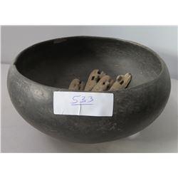 Large Bowl w/Artifacts