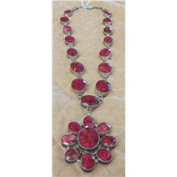 Raw Faceted Ruby Necklace