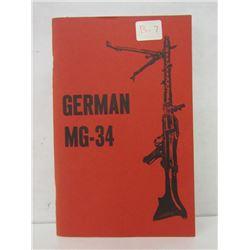 GERMAN MG-34 HANDBOOK