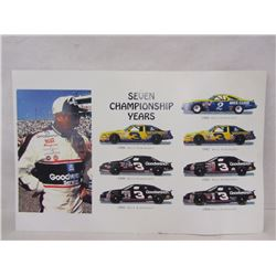 DALE EARNHARDT POSTER AND COMMEMORATIVE KNIFE