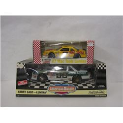 TWO HARRY GANT COLLECTIBLE DIE CAST STOCK CARS