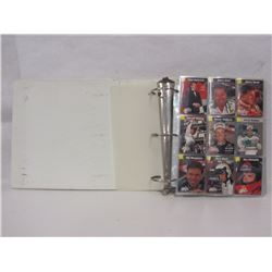 BINDER WITH FINISH LINE RACING TRADING CARDS
