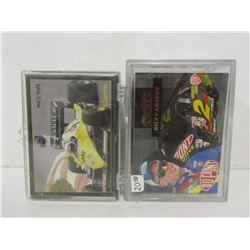 TWO DECKS OF NASCAR TRADING CARDS