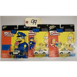 Johnny Lightning (The Simpsons) Die Cast Cars (3)