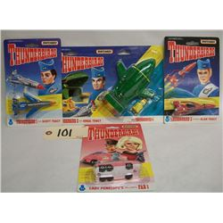 Matchbox Thunderbirds Die Cast Car and Rockets (4)