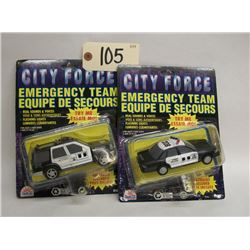 City Force Emercency Team Die-Cast Cars (2)