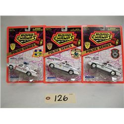 Road Champs Die Cast Cars (3) Police Series