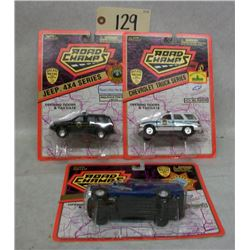 Road Champs Die Cast Cars (3) Special Vehicle Ser.