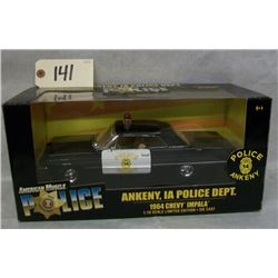 Ertl Collectibles Ankeny Police 1964 Chevy Impala